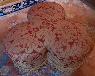 Another view of trefoil ottoman