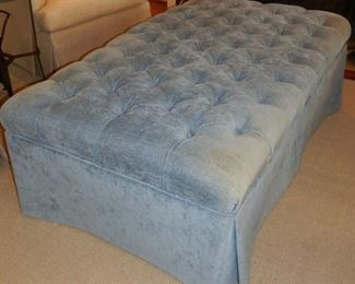 Another view of blue ottoman