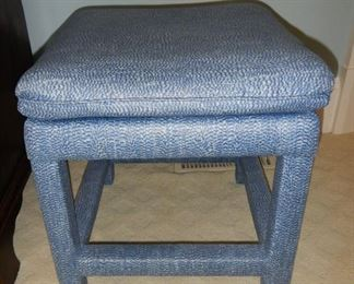 Upholstered blue stool (2) available  20x20  $75  each