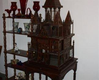 Antique/Vintage Mahogany Victorian Bird Cage