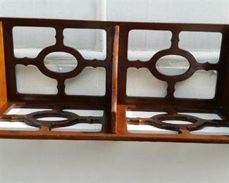 tbs small mahogany corner shelf