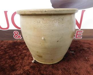 Crowden Stamped Pottery Crock(Harrisburg, PA.)