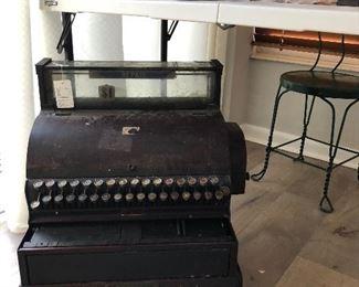 Circa 1905 cash register, East Liberty shoe shop Pittsburgh PA.