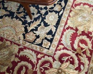 9 feet by 12 feet living room rug.