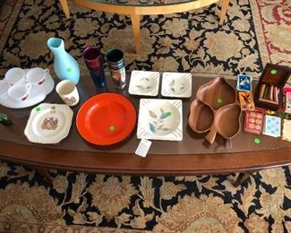 Mid Century decorative items.