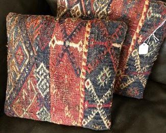 Oriental Rug pillows.