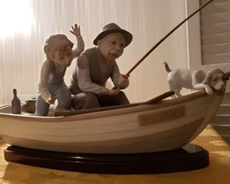 Lladro Fishing with Gramps