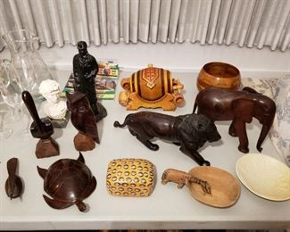 handmade sculptures from Africa and Mexico