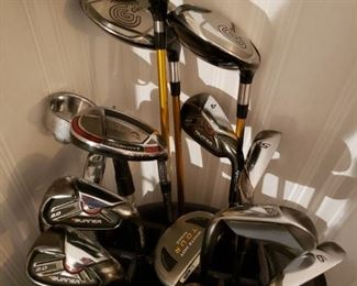 Cleveland Launcher Drivers and Taylormade Burner irons
