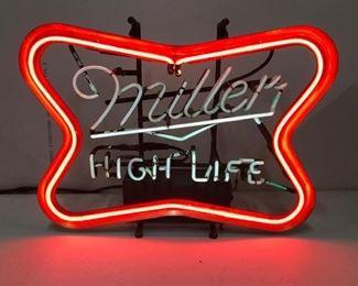 Vintage Miller High Life sign from Jack Patrick's bar downtown