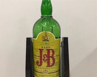 J & B baby! Drink of royalty in the UK. Sweet vintage swivel holder allows for an effortless pour.