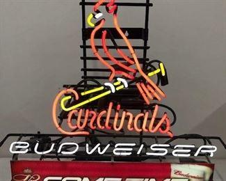 Kings of Baseball and BEER! Gotta love St. Louis! Bird on bat neon.