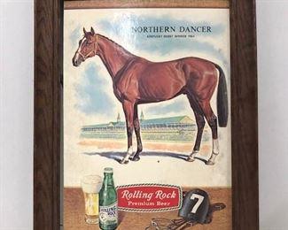 Northern a Dancer Kentucky Derby winning race horse Rolling a rock advertisement.
