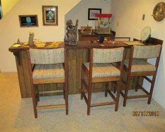 Cargo bar stools
