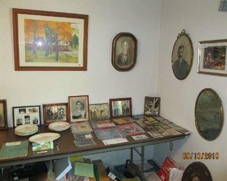 Roanoke memorabilia, antique bubble glass pictures