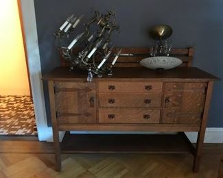 Arts and Crafts Warren Hile Studio sideboard pristine condition.