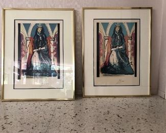 Salvador Dali Signed And Numbered Limited Edition Lithographs With COAs