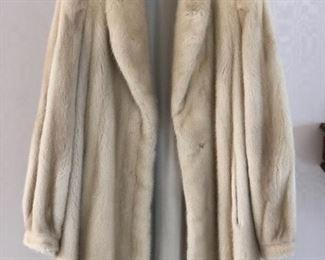White Mink Midi Coat