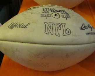was $250.00 now  $40.00. Archie is on two of the three autographed balls.