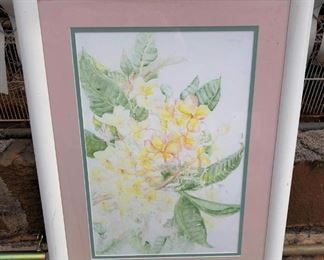 APC003 Yellow Hibiscus Floral Art Painting by Tamaye