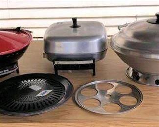 APC011 Two Woks & Electric Frying Pan