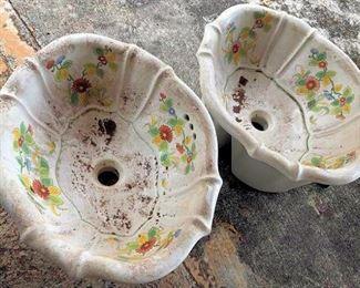 APC019 Two Italian Sherle Wagner Bathroom Sinks
