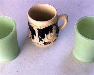 APC050 Fire King Cups & West German Mug