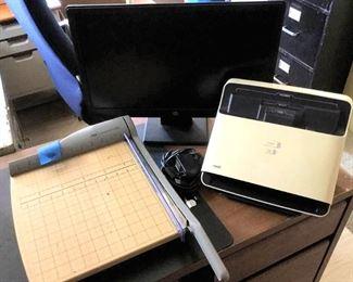 APC083 Paper Cutter, Scanner, Monitor & More Office