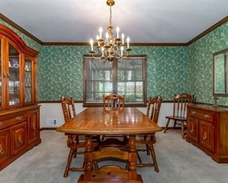 Dining Room Table, China Cabinet, and Buffet