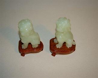 Jade lions