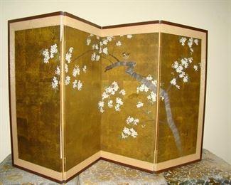 Oriental four panel screen