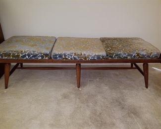 Willets made Mid-century modern bench
