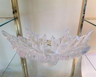 Lalique leaf bowl
