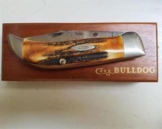 """Case """"Bulldog"""" antler handle pocket knife."""