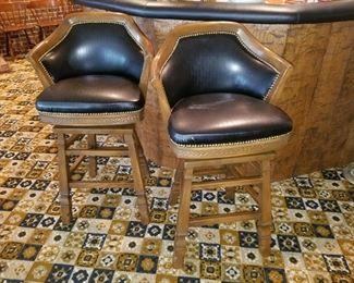 Viking Oak bar stools
