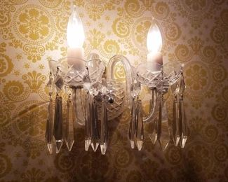 Waterford wall sconce pair