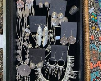 Whimsical fine silver jewelry from Thailand, silver content ranges from .960 to .999. All 50% off!