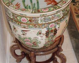 Millefleur Famille Rose Fish bowl/planter