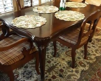 Beautiful dining room table and chairs