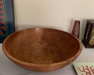 Large wood bowl...great for salad