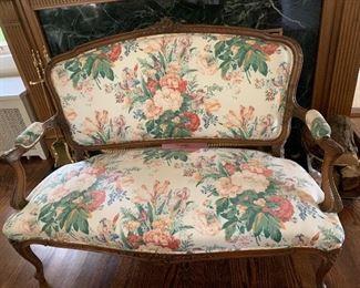 Antique settee
