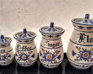 Vintage Dutch Canister Set