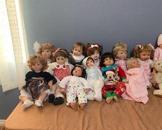 Life like dolls .... lee Middleton collection, heritage mint, Susan Walden ,Marci Cohan, etc...