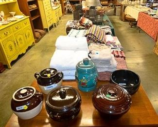 Pottery and blankets