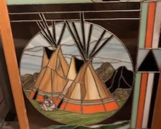 Stained Glass Native American Teepee