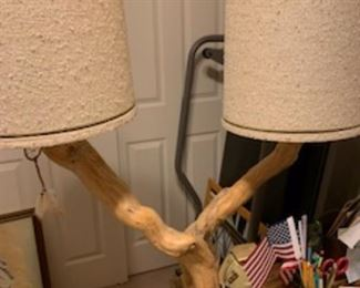 Natural Mesquite tree lamp