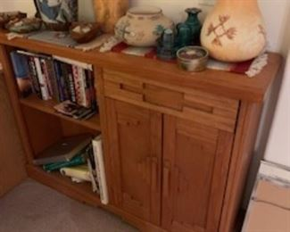SW oak bookcase and cabinet