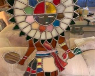 Stained glass Statue