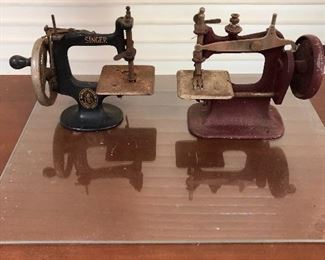 Singer Toy sewing machine and unmarked sewing machine