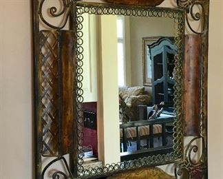 METAL WALL DECOR MIRROR.